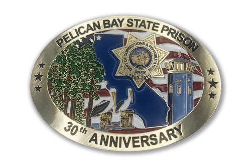 Error Buckle <br> Pelican Bay State Prison <br> 30th Anniversary <br> Belt Buckle Color