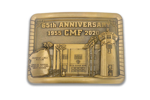 Antique Finish <br> Numbered Collector's Edition <br> CMF 65th Anniversary Belt Buckle