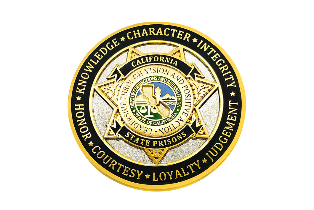 CDCR Toughest Beat <br> Challenge Coin #2 (Silver)
