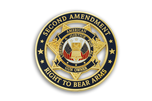1st Coin in <br> American Gun Owners <br> CDC Challenge Coin Series <br> SECOND AMENDMENT