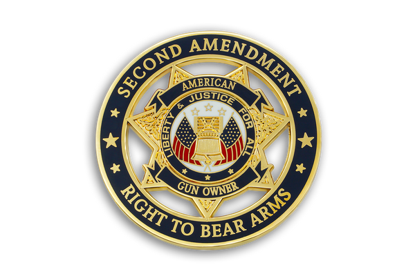 1st Coin in American Gun Owners CDC Challenge Coin Series - SECOND AMENDMENT