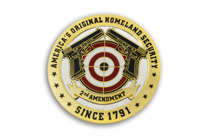 2nd Coin in American Gun Owners CDC Challenge Coin Series - HOMELAND SECURITY