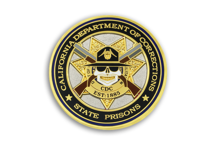 3rd in CDC Old School Challenge Coin Series - CDC MEETS CDCR