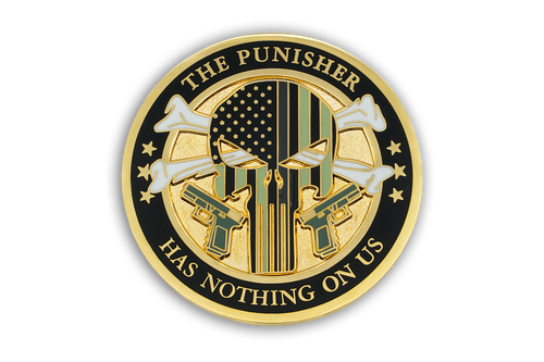 5th in <br>  CDC Old School <br>  Challenge Coin Series - <br> THE PUNISHER