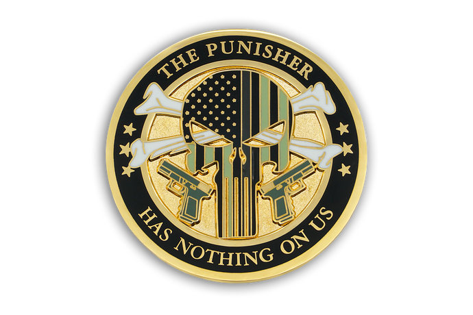 5th in CDC Old School Challenge Coin Series - THE PUNISHER