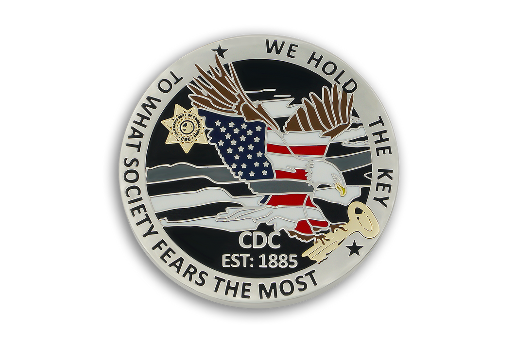 6th in <br> CDC Old School <br> Challenge Coin Series <br> THE EAGLE