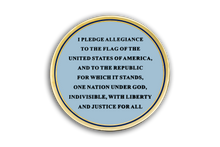 "Custom ""I Stand"" Challenge Coin American Flag Pledge of Allegiance Patriotic"