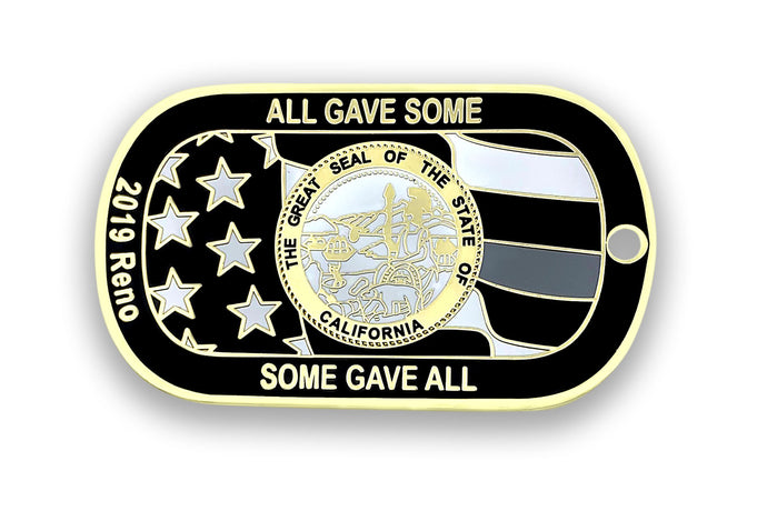 CDC 2019 Reno Conf Dog Tag/Challenge Coin - Black & White