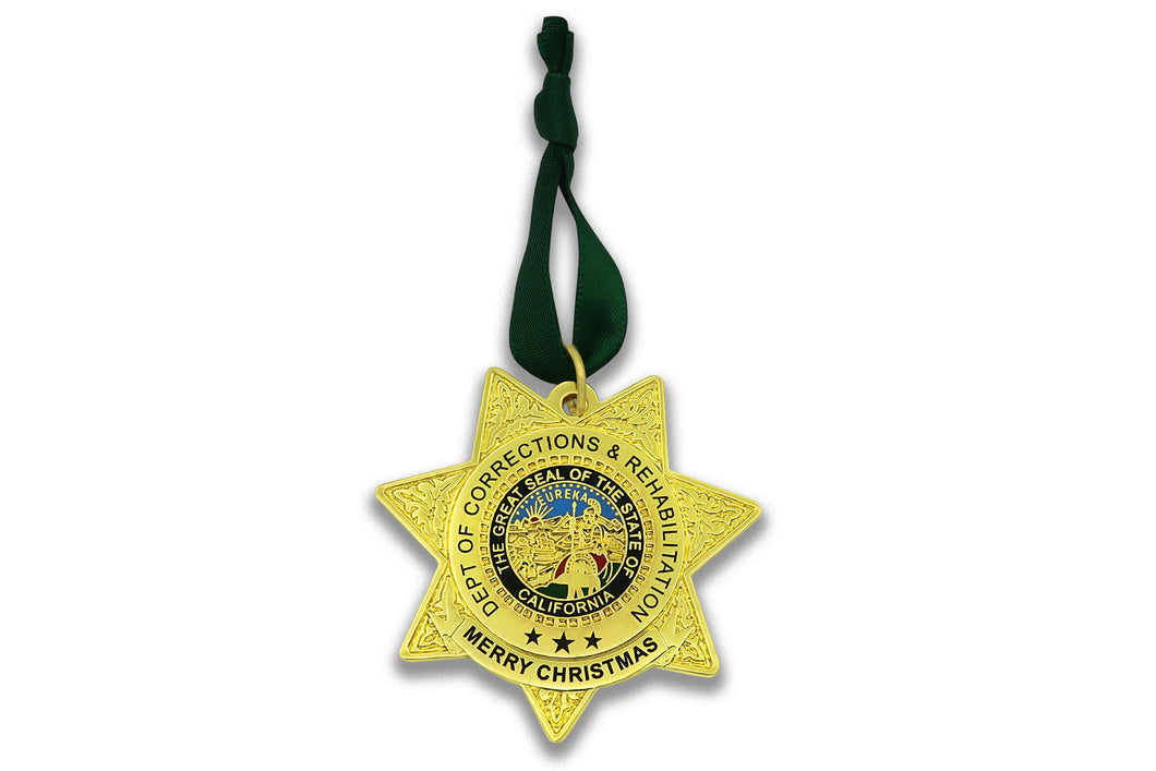 CDC/CDCR Double Sided <br> Christmas Ornament  <br> 35% OFF until 12/30
