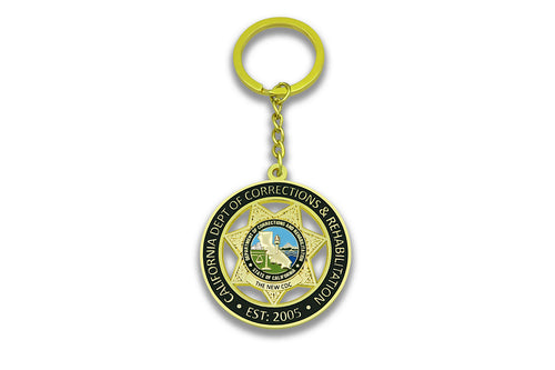 CDC/CDCR <br> Double Sided Key Chain