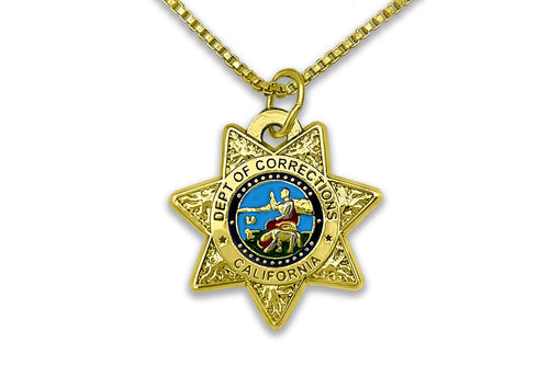 CDCR Small Double-sided Badge Necklace