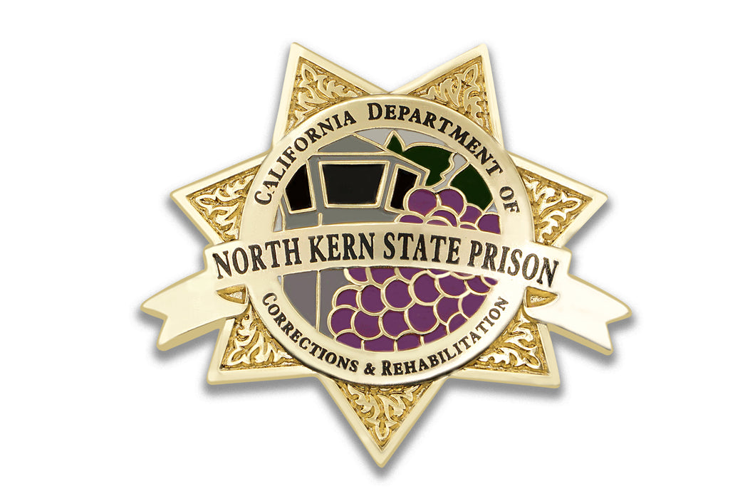North Kern State Prison <br> Badge Lapel Pin
