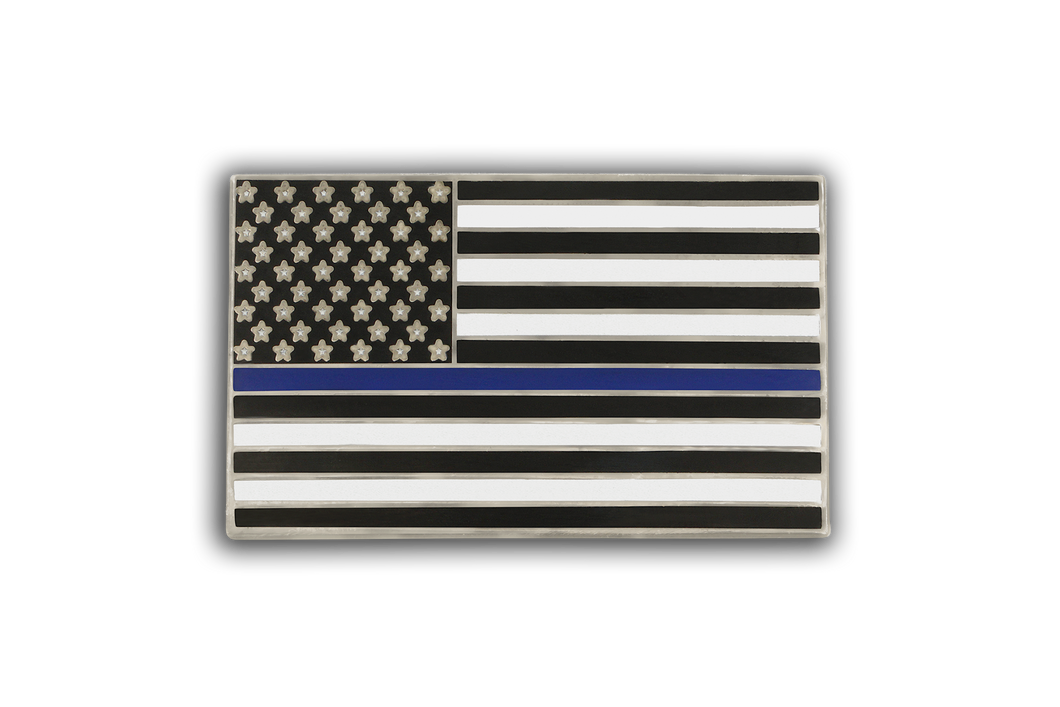 Custom Blue Lives Matter Lapel Pin American Flag Law Enforcement Double Butterfly Clutch