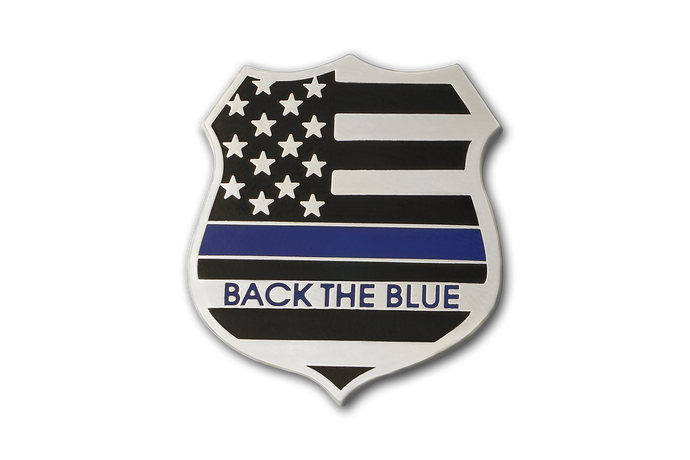 Custom Back The Blue Shield Blue Lives Matter Lapel Pin Law Enforcement American Flag