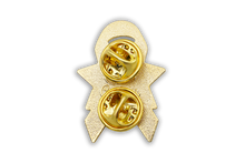 Alzheimer's Purple Ribbon <br> CDCR Star Badge Lapel Pin