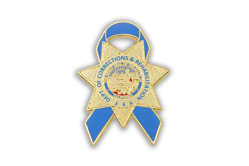 Blue Ribbon Series <br> CDCR Badge Lapel Pin #2