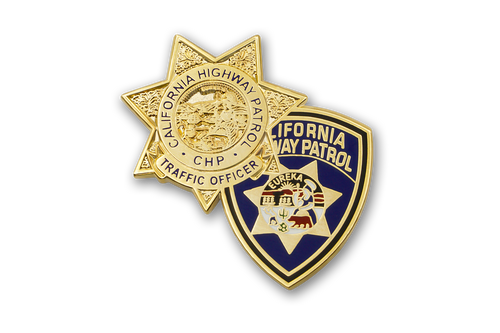 CHP Badge & Patch Combo <br>  Lapel Pin