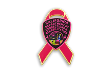 Pink Ribbon Series CDCR Arm Patch Lapel Pin #1