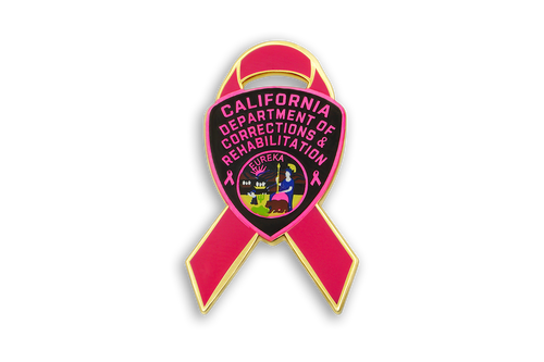 Pink Ribbon Series <br> CDCR Arm Patch <br> Lapel Pin #1