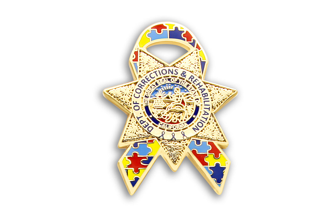 Autism Awareness , Ribbon Lapel Pin (CDCR)