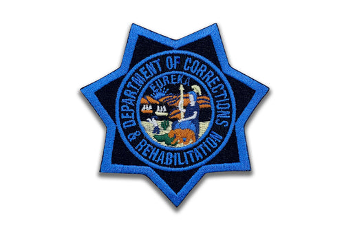 CDCR Blue Ribbon <br> Star Badge Patch