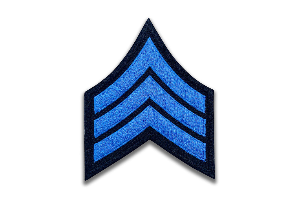 Blue Chevron Patch