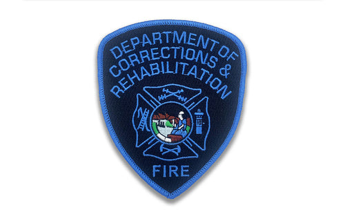 CDCR FIRE <br> Blue Ribbon Arm Patch