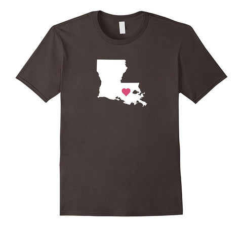 Cute Louisiana Love T-shirt for Creole Lovers with a Heart