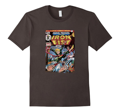 Marvel Iron Fist Origin Comic Book Page Graphic T-Shirt