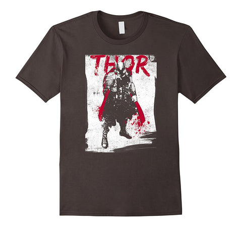 Thor Paint Splatter Print Graphic T-Shirt