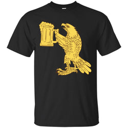 American bald eagle beer stein drawing shirt