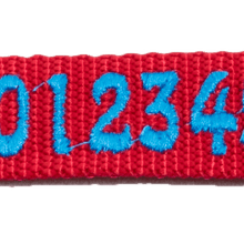 Embroidered font for collars