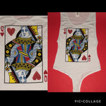 Queen of hearts bodysuit