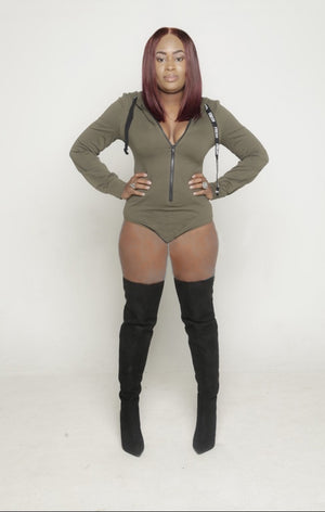 Long Sleeve Hooded Bodysuit
