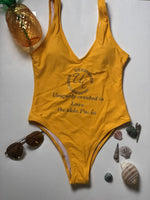Uniquely Created Yellow swimsuit