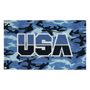 USA Flag (Camo - Blue)
