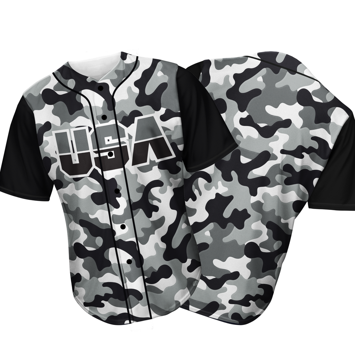 USA Baseball Jersey Camo (Black/White)