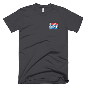 Embroidered USA Drinking Team T-Shirt