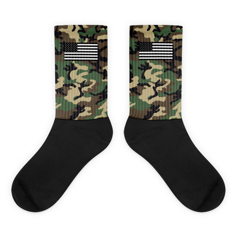 Camo w/ Flag Socks