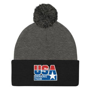 USA Drinking Team Pom Beanie