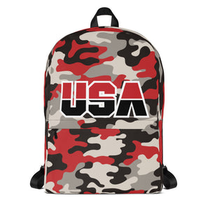 Red Camo Backpack