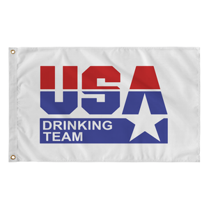 USA Drinking Team Flag (White)