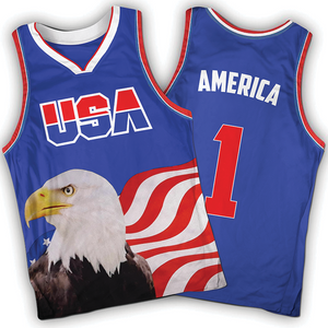 Blue America #1 Jersey w/ Eagle - Basketball