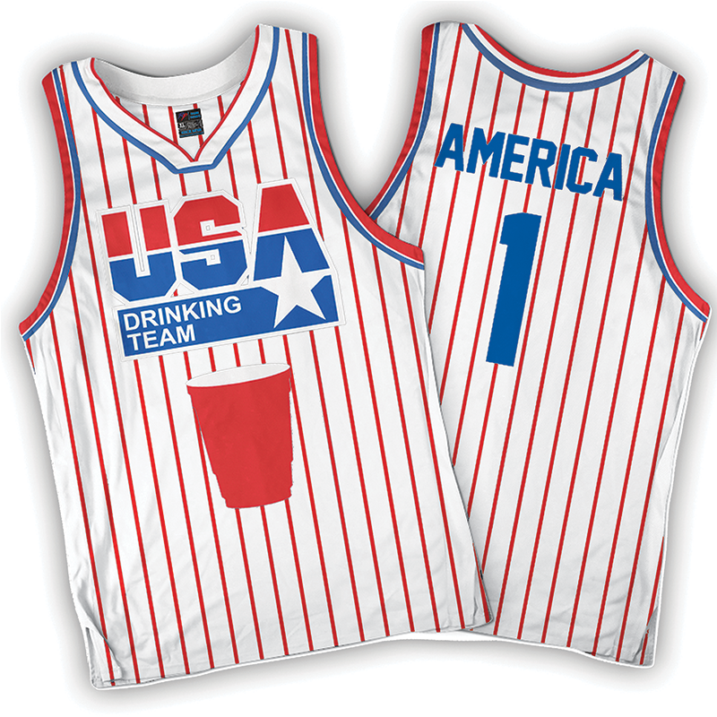 USA Drinking Team (White/Pinstripe)