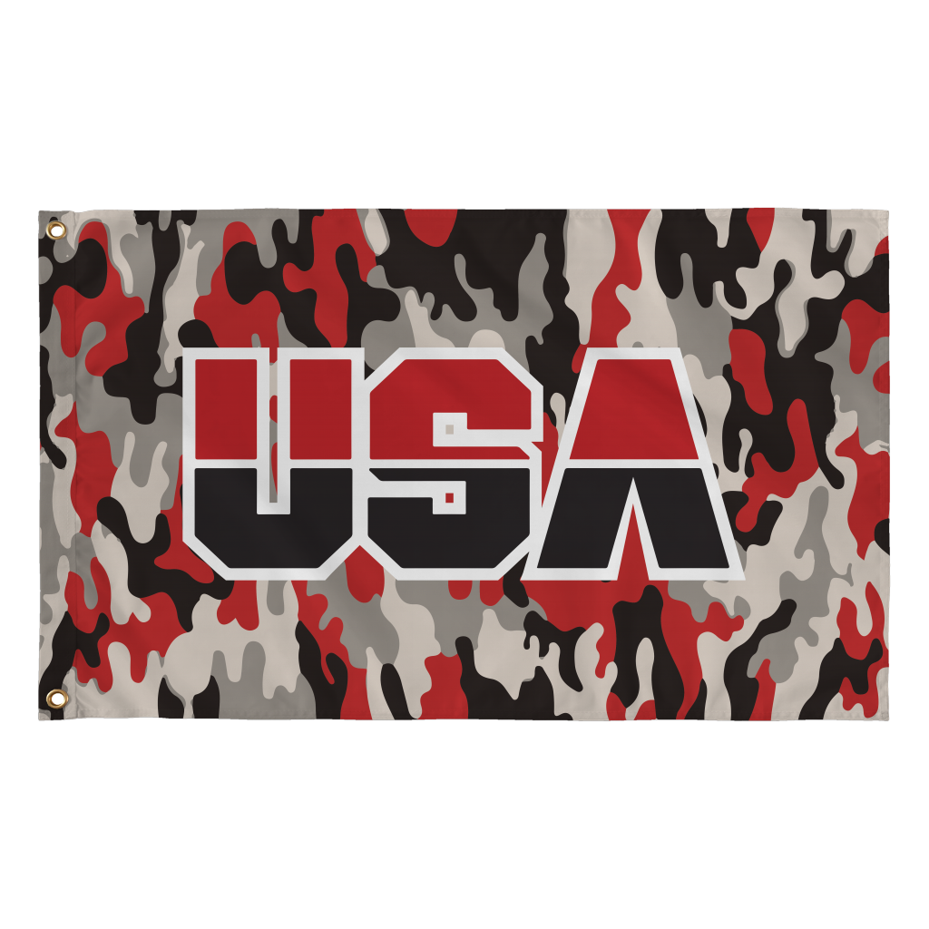 USA Flag (Camo - Red)