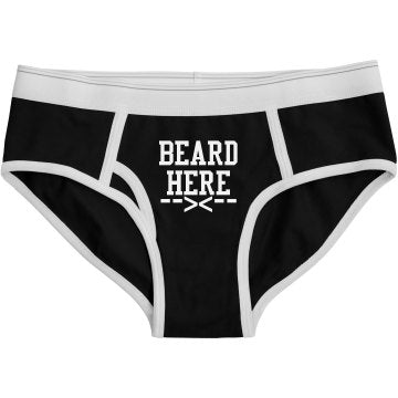 Ladies BEARD HERE Boyfriend Briefs