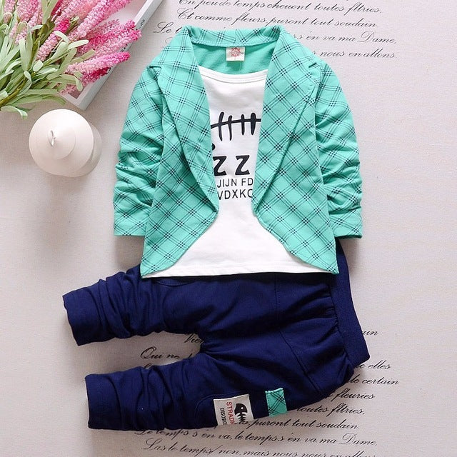 2c45e7b78310 Formal Baby Boys Suit Long Sleeve Striped Jacket And Pants 2Pcs ...
