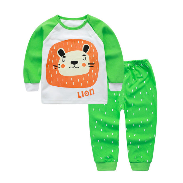Animal Lion Infant Baby Boy Clothes Set Long Sleeve Toddler Baby