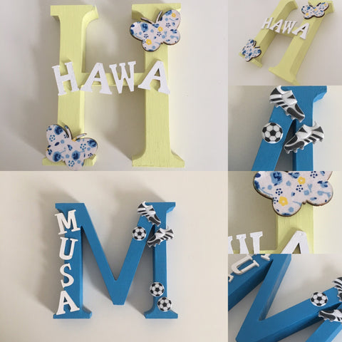Personalised Name Alphabet Letter Door Plaque