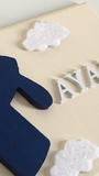 Personalised Name Aeroplane Door Plaque